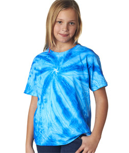 Gildan 68B - Tie-Dye Youth Neon One-Color Pinwheel Tee