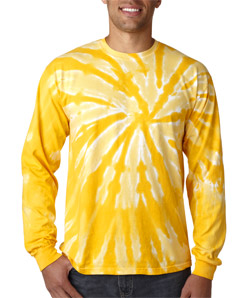 Gildan 89 - Tie-Dye Adult One-Color Long-Sleeve Pinwheel ...