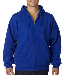 14374f0428c6 Hanes P180 - Adult ComfortBlend EcoSmart Full-Zip Hooded Pullover  18.15 -  Men s Fleece