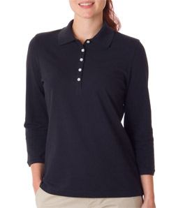 IZOD Z0083 - Ladies' 3/4-Sleeve Silk-Washed Pique Polo