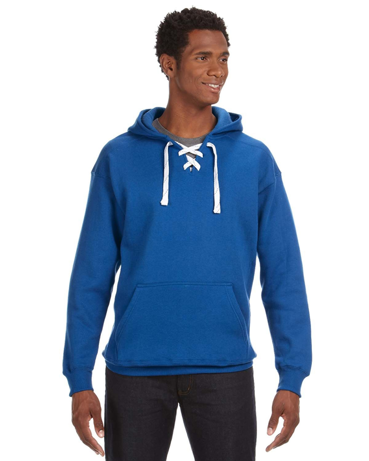 J-America J8830 - Adult Sport Lace Hooded Fleece