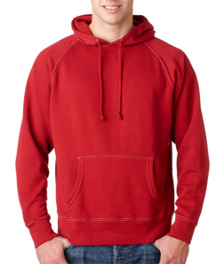J-America J8863 - Adult Vintage Contrast Stitch Hooded ...
