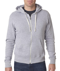 J-America J8872 - Adult Tri-blend Full-Zip Hooded Fleece