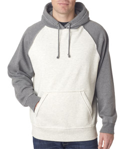 J-America J8885 - Adult Vintage Heather Hooded Fleece