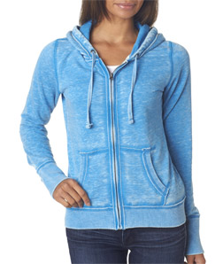 J-America J8913 - Ladies' Vintage Zen Full-Zip Hooded Fleece