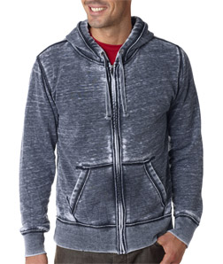 J-America J8916 - Adult Vintage Zen Full-Zip Hooded ...