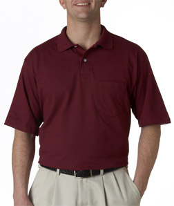 Jerzees 436 - Adult Jersey Pocket Polo with SpotShield