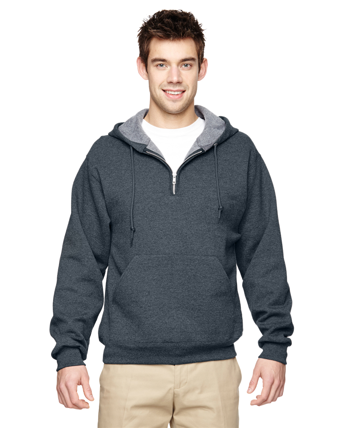 Jerzees 994 - Adult NuBlend Quarter-Zip Hooded Sweatshirt