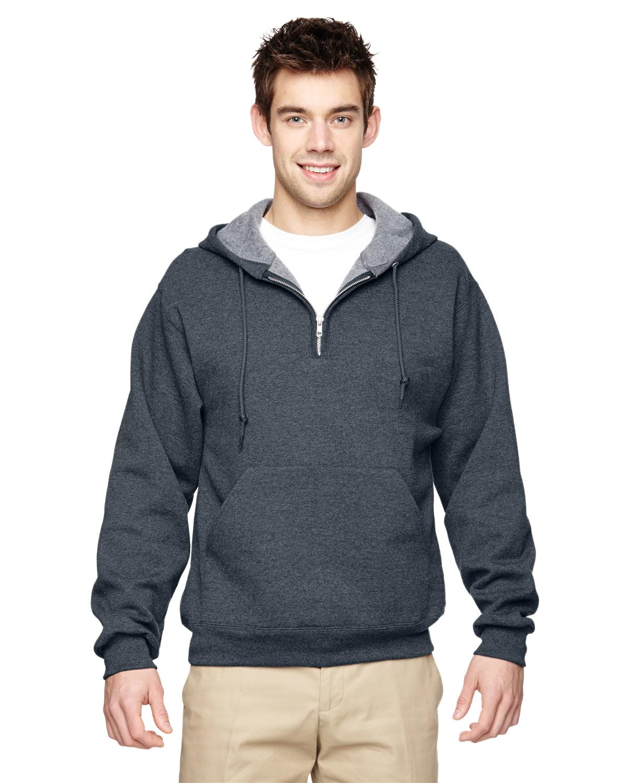 Jerzees 994 - Adult NuBlend Quarter-Zip Hooded Sweatshirt