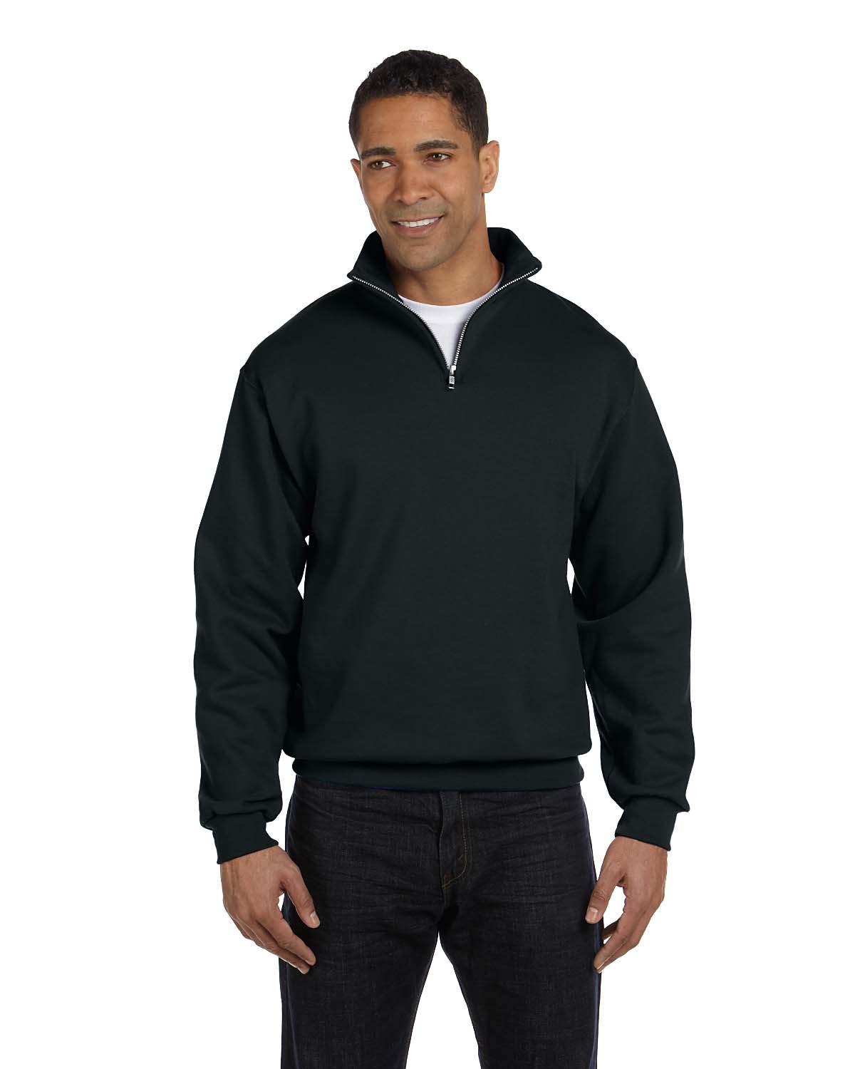 Jerzees 995 - Adult NuBlend Quarter-Zip Cadet-Collar ...