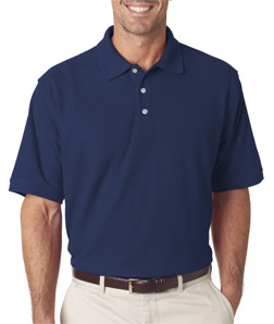 Ultra Club 7510 - Men's Platinum Honeycomb Pique Polo