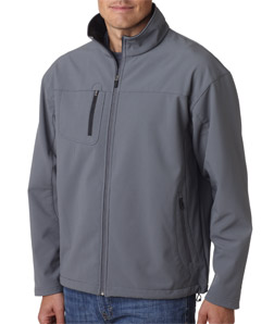 Ultra Club 8280 - Adult Soft-Shell Jacket with Cadet Collar