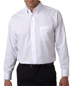 Ultra Club 8365 - Men's Shadow-Stripe Woven Shirt