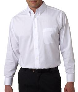 Ultra Club 8365 - Men's Shadow-Stripe Woven Shirt