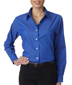 Ultra Club 8366 - Ladies' Shadow Stripe Woven Shirt