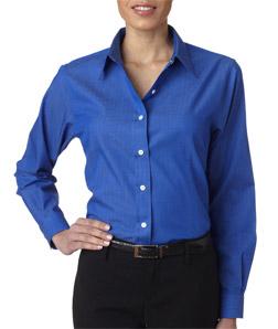 Ultra Club 8366 - Ladies' Shadow Stripe Woven Shirt