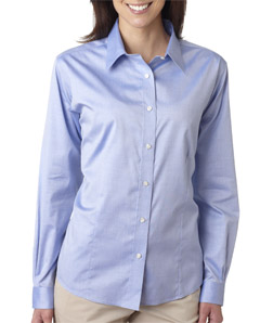 Ultra Club 8381 - Ladies' Non-Iron Pinpoint Shirt
