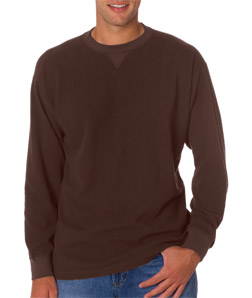 Ultra Club 8455 - Adult Mini Thermal Crew Neck Tee