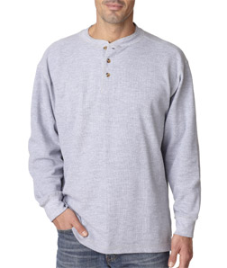 Ultra Club 8456 - Adult Mini Thermal Henley