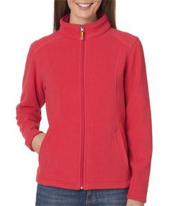 Ultra Club 8498 - Ladies' Micro-Fleece Full-Zip Jacket