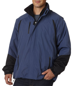 Ultra Club 8939 - Adult Three-In-One Color Block Systems Jacket