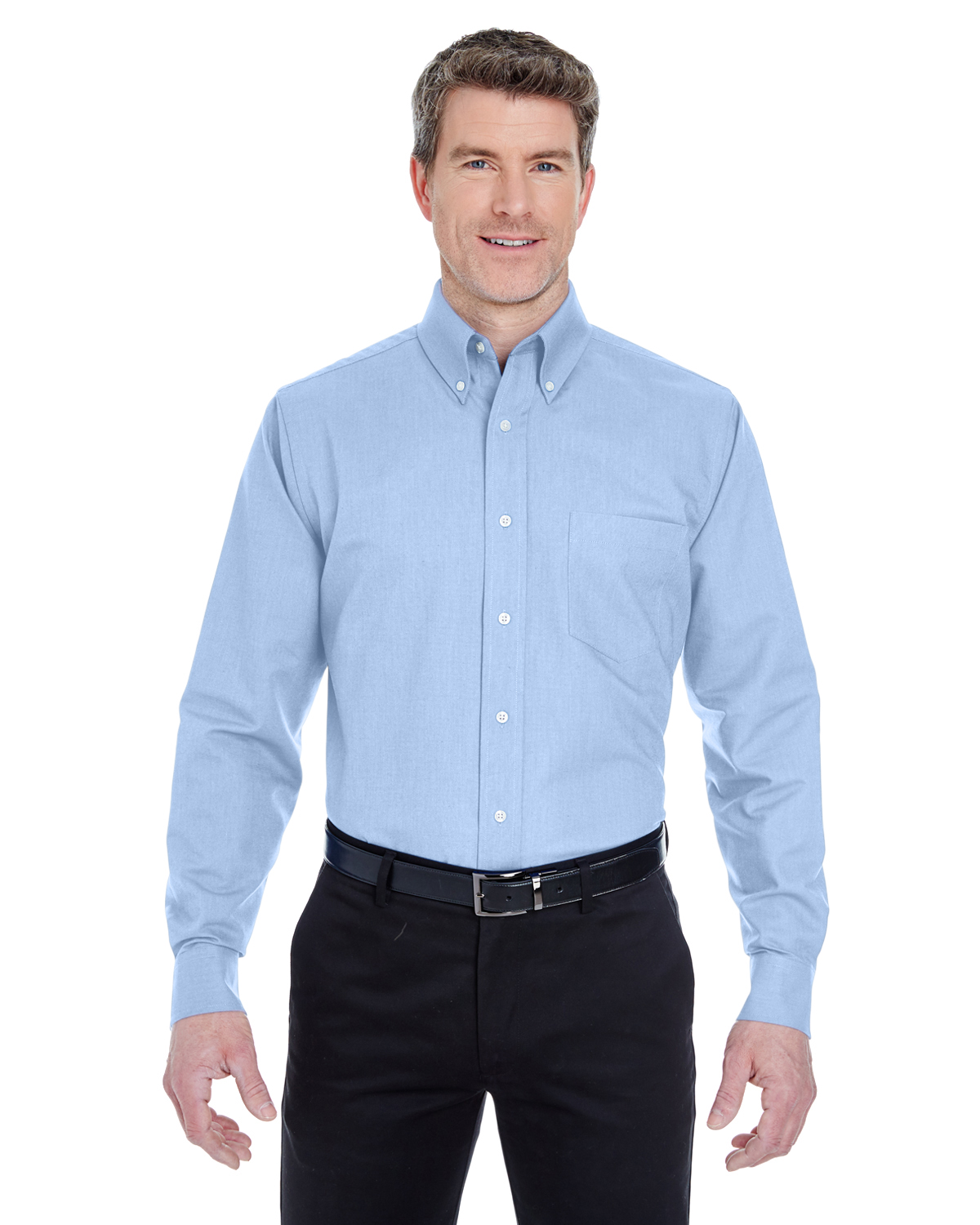 Ultra Club 8970T - Men's Tall Classic Wrinkle-Free Long-Sleeve Oxford