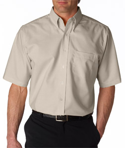 Ultra Club 8972T - Men's Tall Classic Wrinkle-Free Short-Sleeve Oxford