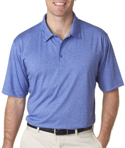 UltraClub 8302 - Adult Cool and Dry Elite Micro-Poly Heathered Polo