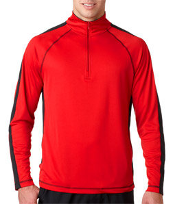 UltraClub 8398 - Adult Cool & Dry Sport 1/4-Zip Pullover