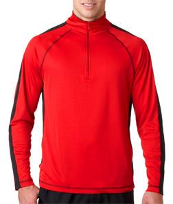 UltraClub 8398 成年人清爽遮阳运动四分之一拉链毛线套衫