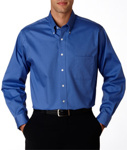 Van Heusen V0067 - Men's Long-Sleeve Blended Pinpoint ...