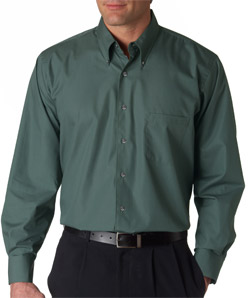 Van Heusen V0113 - Men's Long-Sleeve Silky Poplin