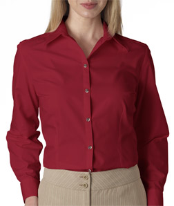 Van Heusen V0114 - Ladies' Long-Sleeve Silky Poplin