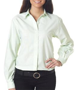 Van Heusen V0201 - Ladies' Long-Sleeve Varsity Check Oxford