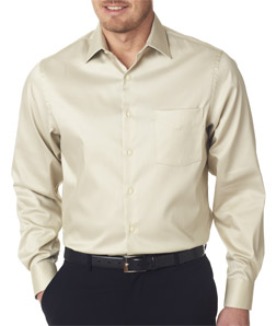 Van Heusen V0218 - Men's Sateen Broadcloth Shirt