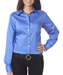Van Heusen V0219 - Ladies' Sateen Broadcloth Shirt