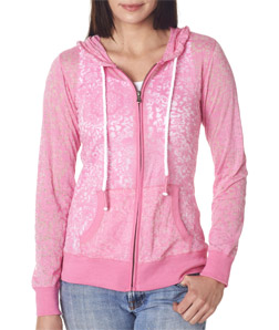 Weatherproof W1280 - Ladies' Stefani Burnout Full-Zip ...