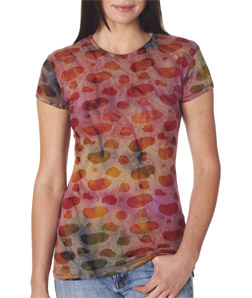 Weatherproof W1888 - Ladies' Burnout Tee Shirt