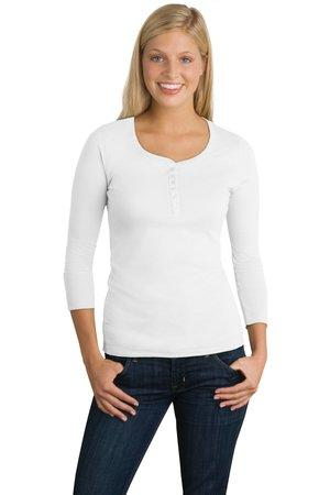 District® DT213 Juniors 3/4-Sleeve Perfect Weight ...