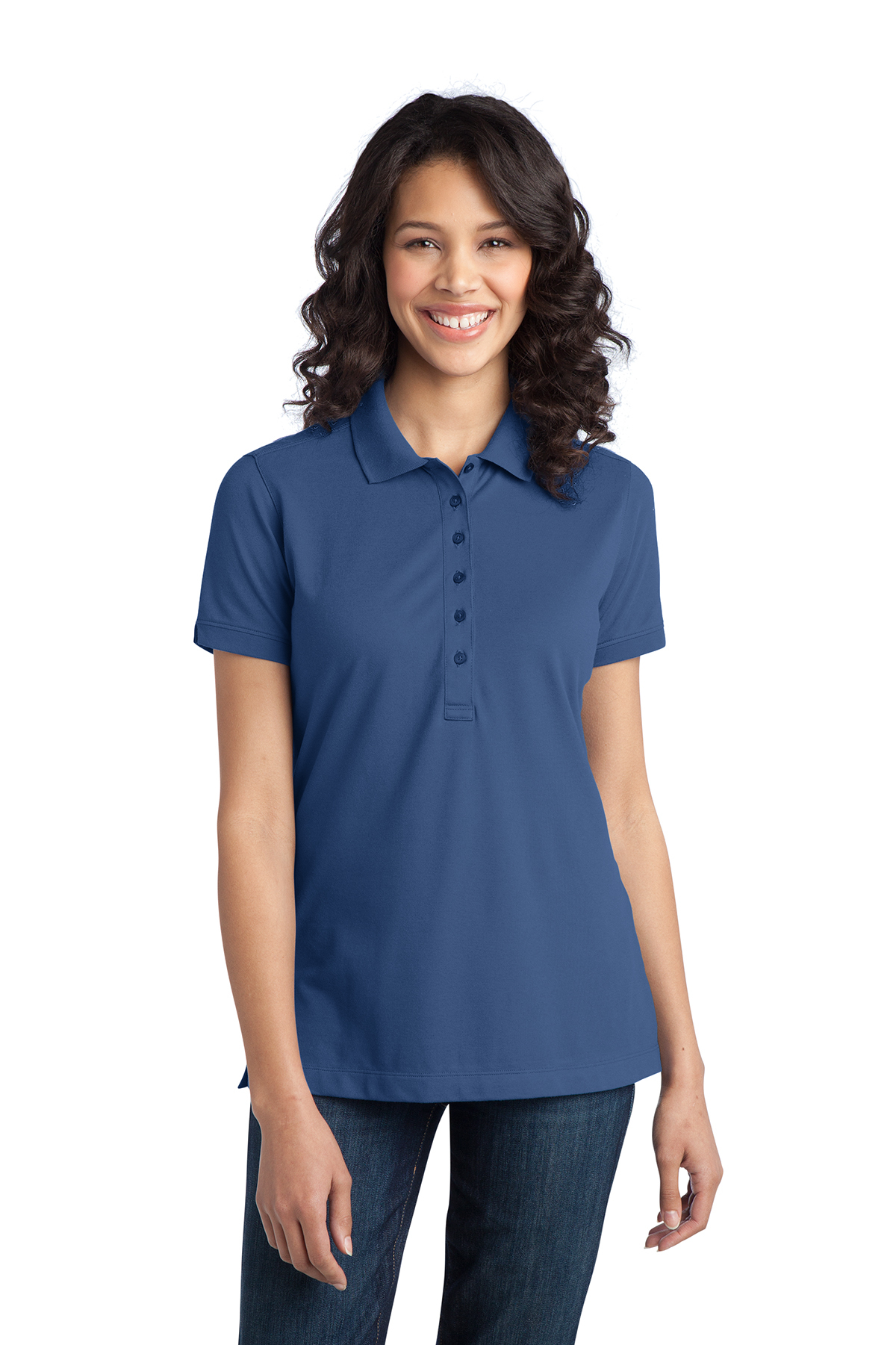 Port Authority® L555 Ladies Stretch Pique Polo