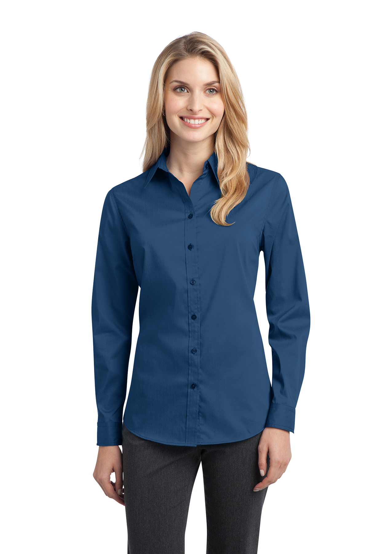 Port Authority® L646 Ladies Stretch Poplin Shirt