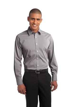 Port Authority® S647 Fine Stripe Stretch Poplin Shirt