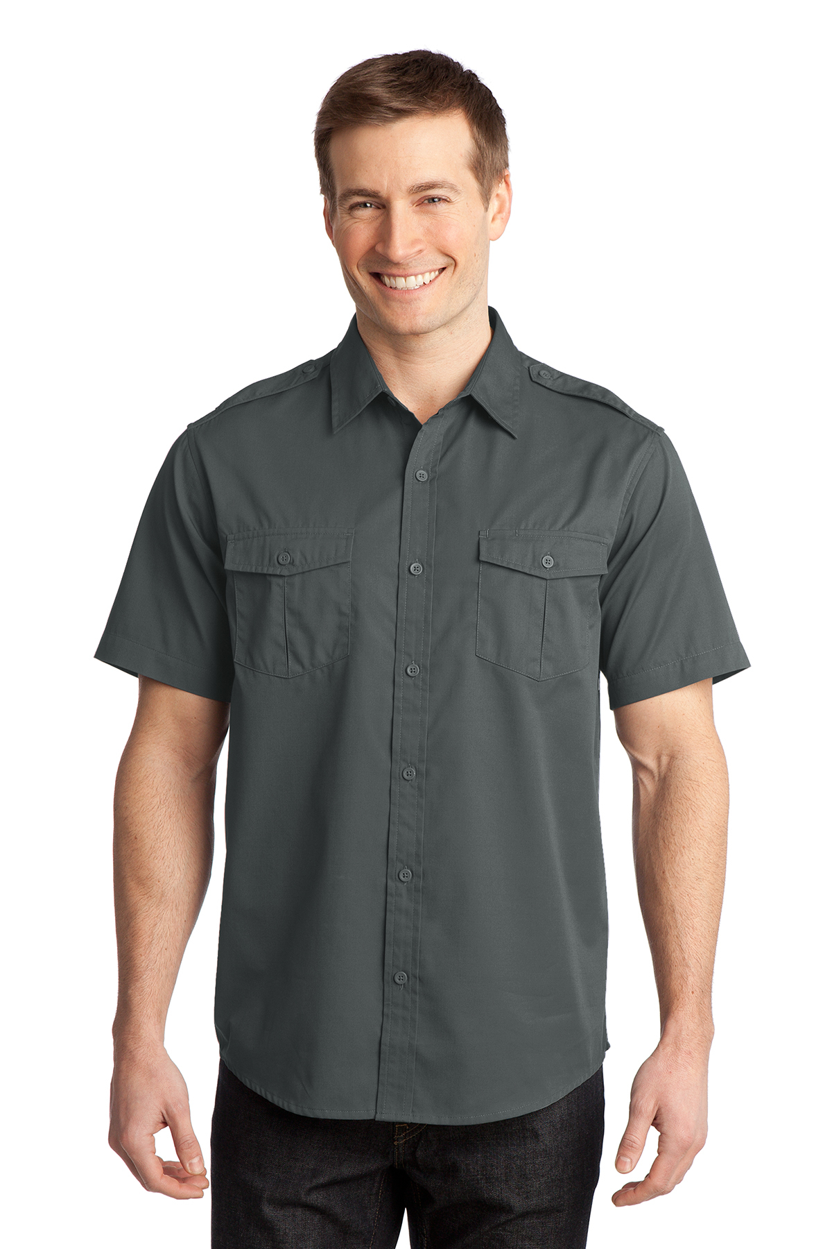 Port Authority® S648 Stain-Resistant Short Sleeve ...