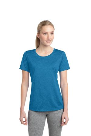 Sport-Tek® LST360 Ladies Heather Contender Scoop ...