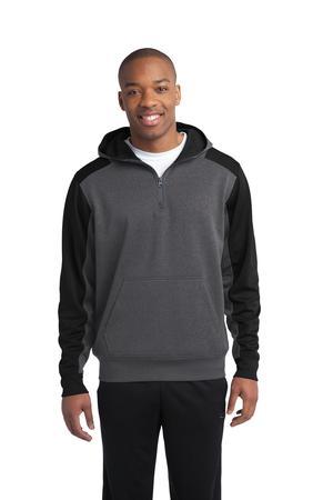 Sport-Tek® ST249 Colorblock Tech Fleece 1/4-Zip Hooded Sweatshirt