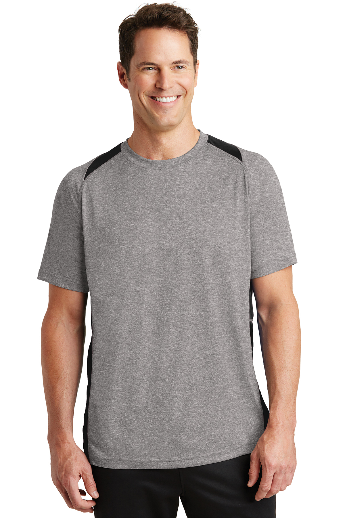 Sport-Tek® ST361 Heather Colorblock Contender Tee