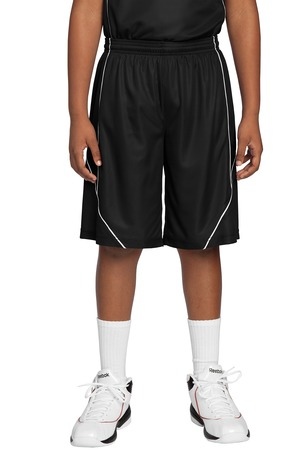 Sport-Tek® YT565 Youth PosiCharge Mesh™ Reversible Spliced Short