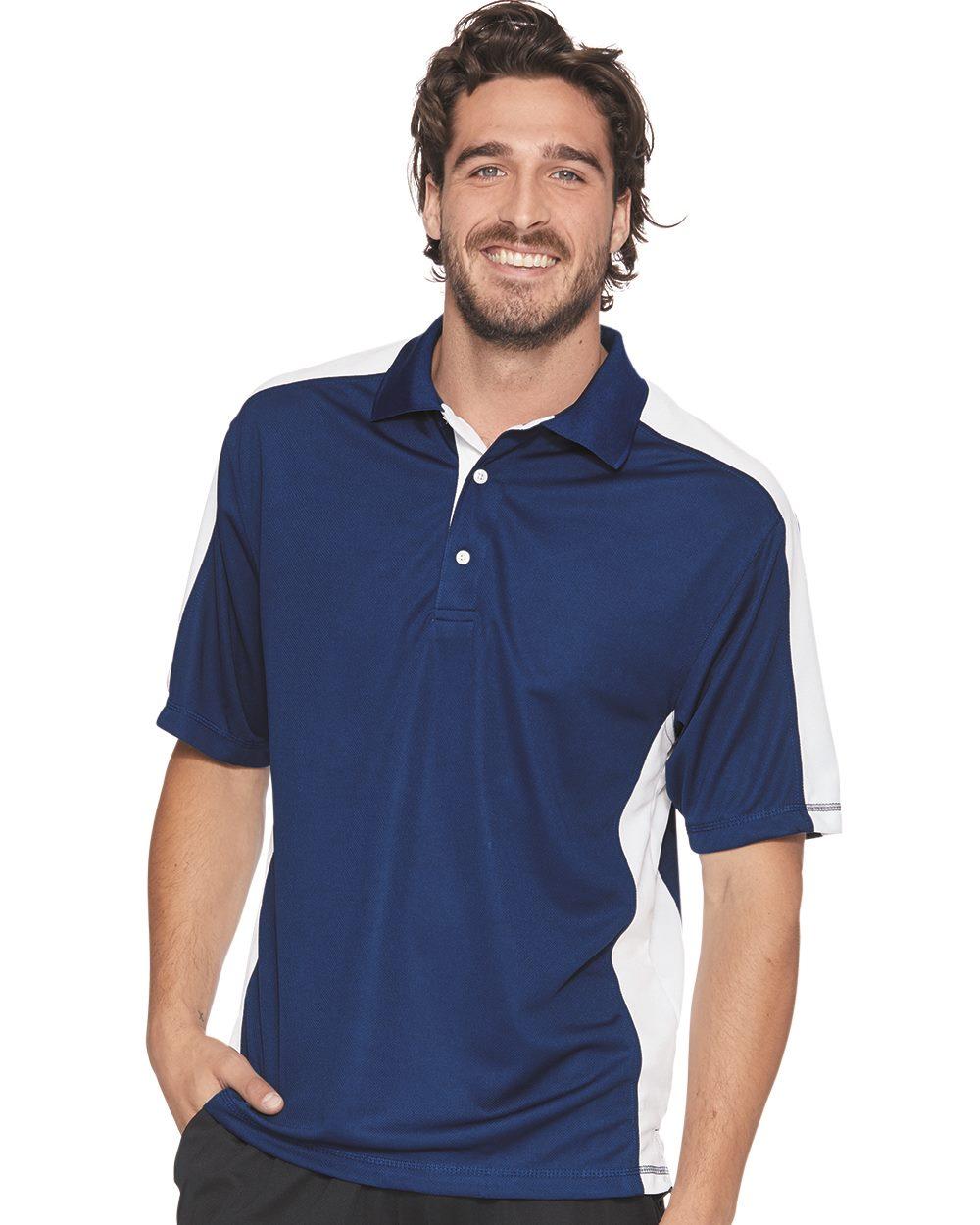 FeatherLite 0465 - Colorblocked Moisture Free Mesh Sport Shirt