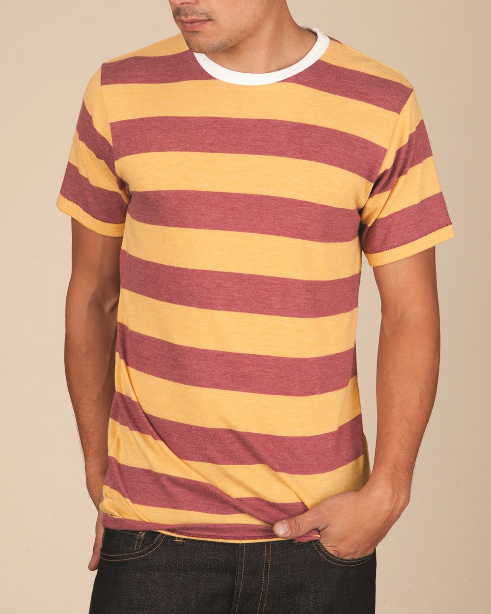 Alternative 1935ej - Eco Jersey Ugly Stripe Short Sleeve ...