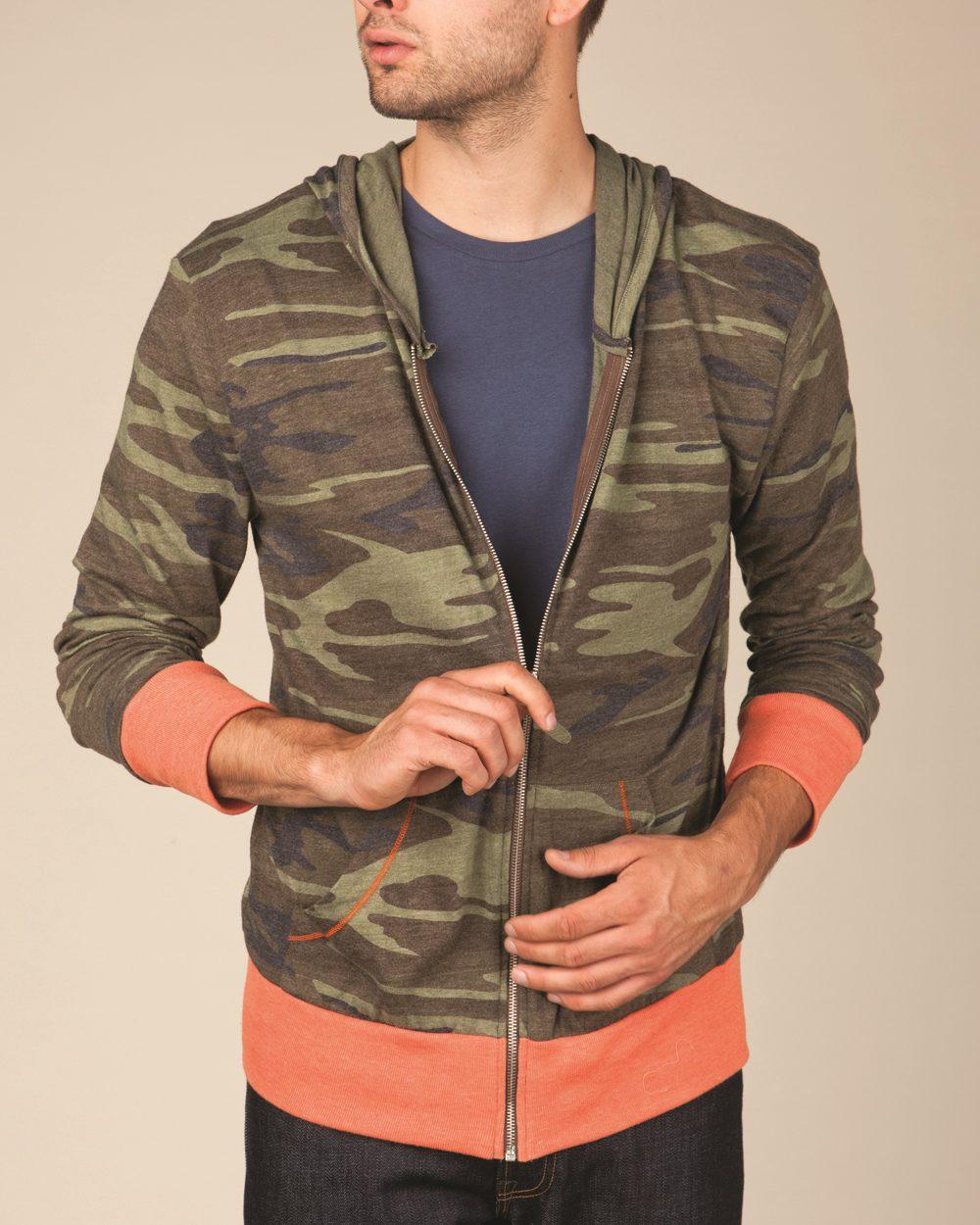 Alternative 1970ea - Printed Eco-Jersey Hooded Full-...